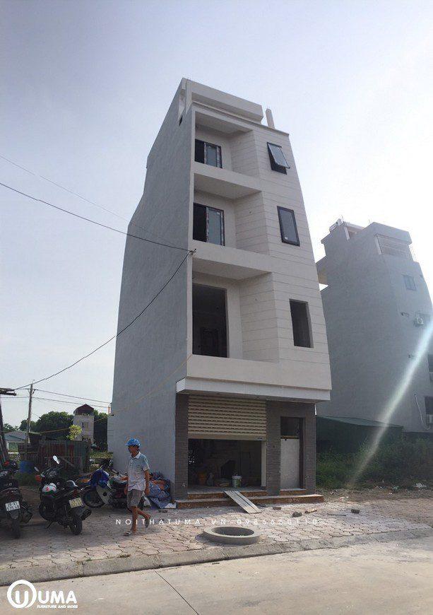 căn nhà 4 tầng mới xây của anh Cường