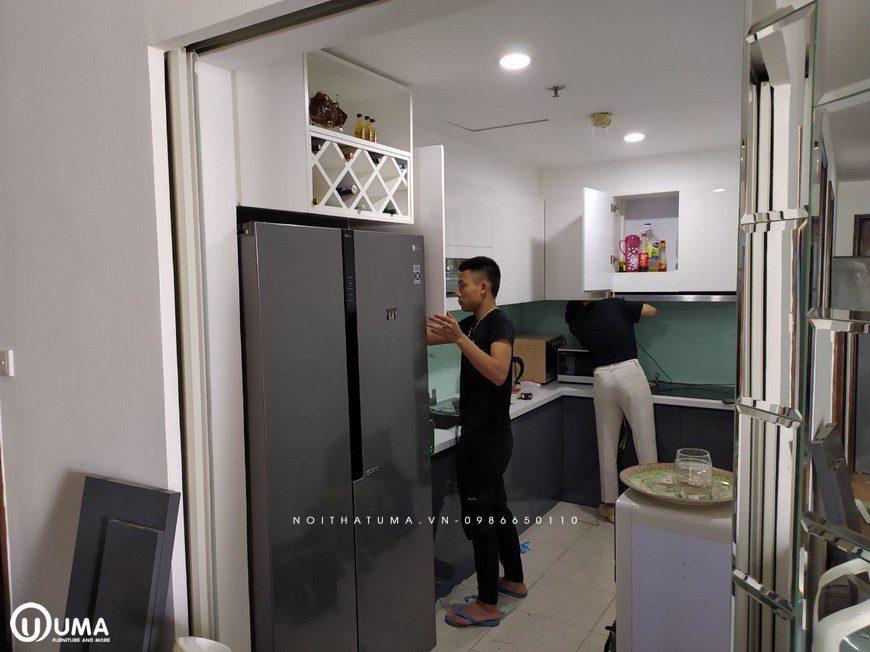 Thi công tủ bếp Acrylic An Cường nhà anh Dũng - Chung cư T3 Time City, Thi công tủ bếp Acrylic An Cường, Acrylic, An Cường, Thi công nội thất