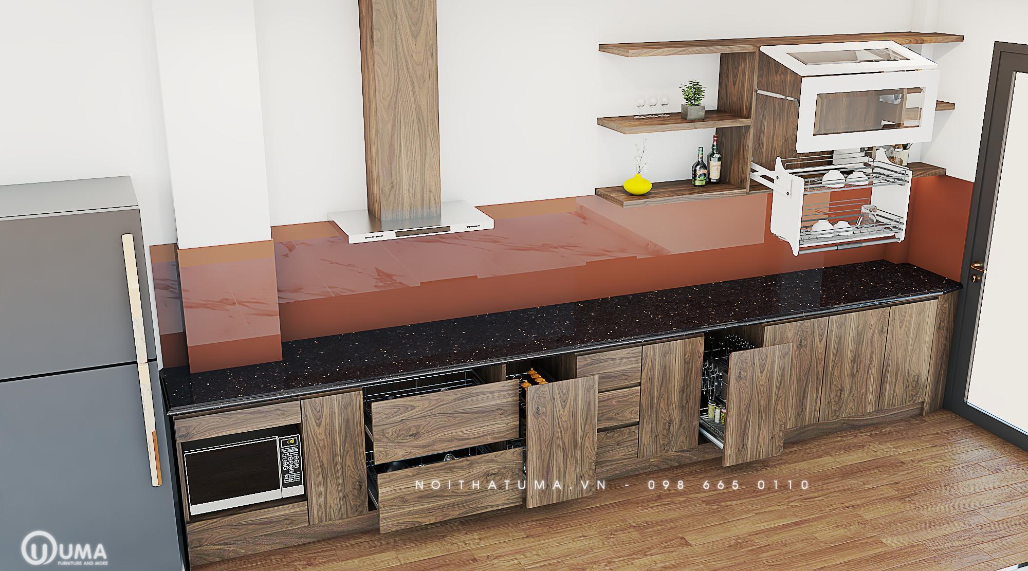 Phong cách thiết kế tủ bếp cho người Canh Ngọ của UMA