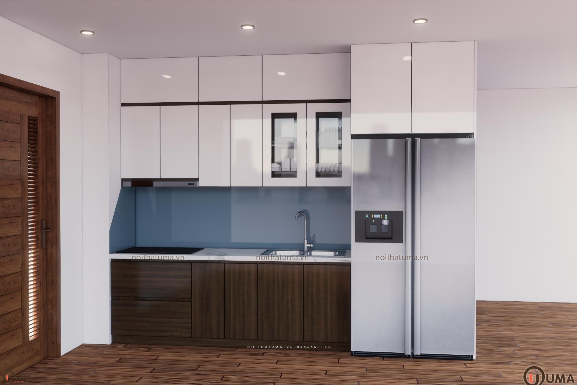 Tủ bếp Laminate chữ L UMA