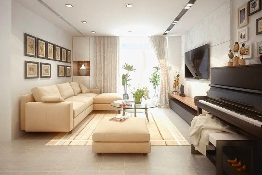 Mẫu 2 – Hướng cửa thiết kế nội thất chung cư