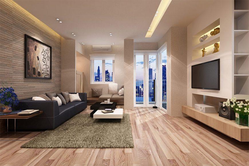 Mẫu 3 - Hướng cửa thiết kế nội thất chung cư
