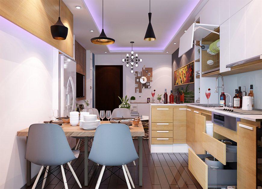 Mẫu 2 – Thiết kế nội thất phòng bếp cho người sinh năm 1960