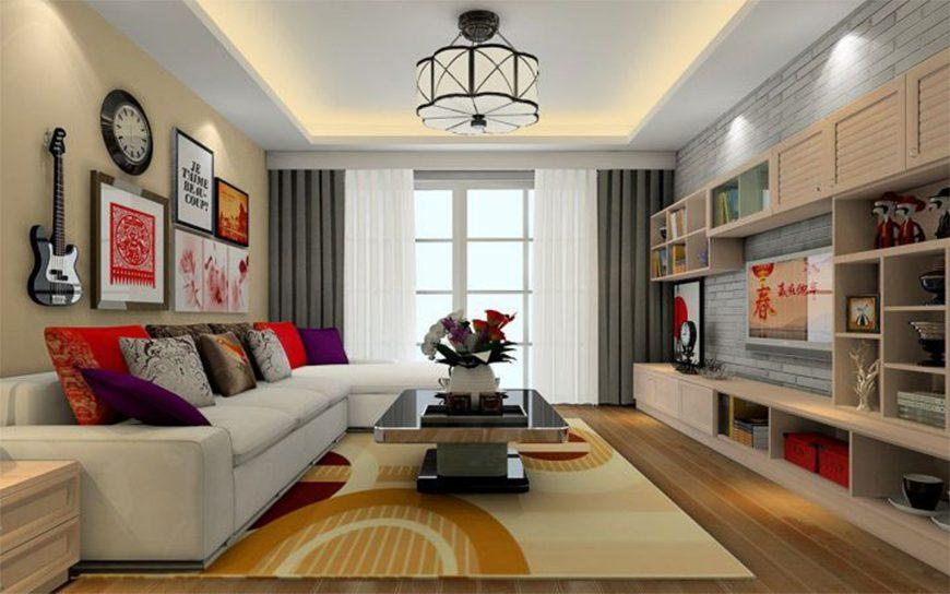 Mẫu 1 – Thiết kế nội thất phòng khách hợp phong thủy người sinh năm 1960