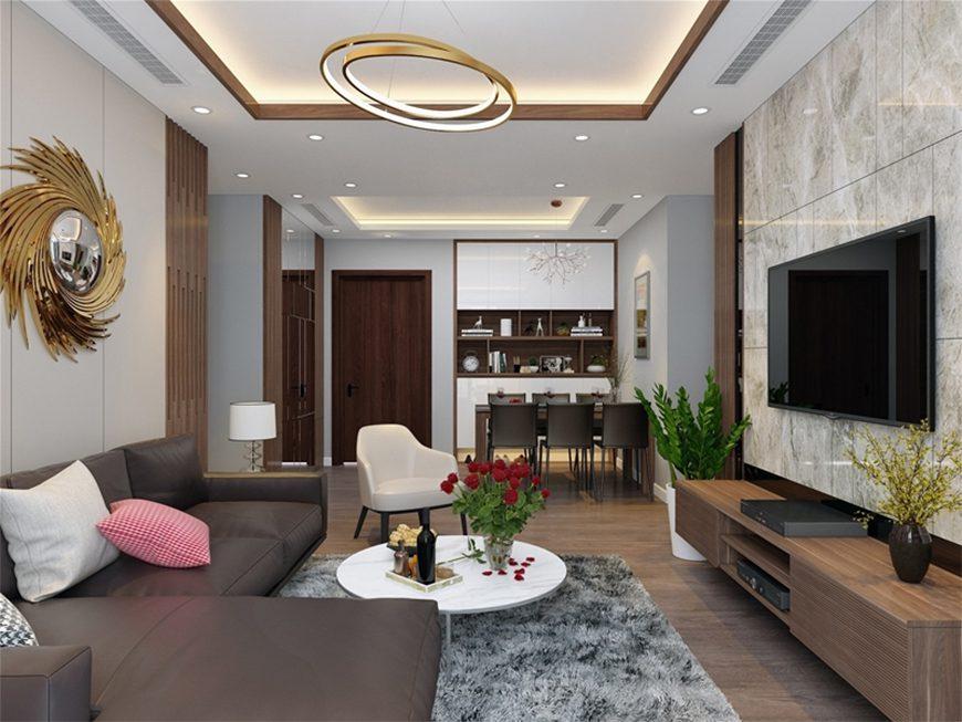 Mẫu 2 – Thiết kế nội thất phòng khách hợp phong thủy người sinh năm 1960