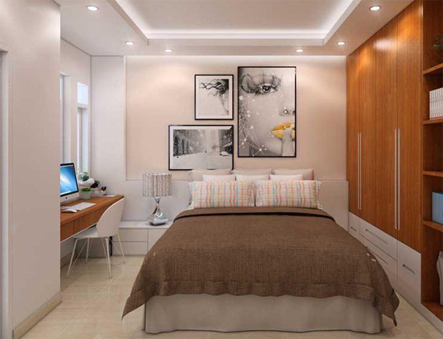 Mẫu 1 – Thiết kế nội thất phòng ngủ cho người sinh năm 1960