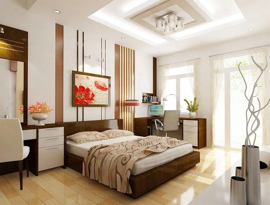 Mẫu 2 – Thiết kế nội thất phòng ngủ cho người sinh năm 1960