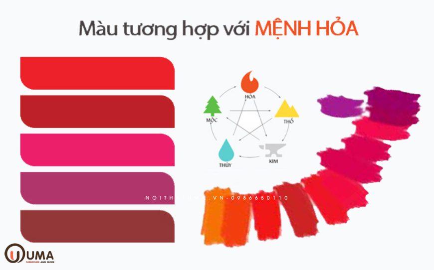 Màu sắc hợp mệnh cho người sinh năm 2017