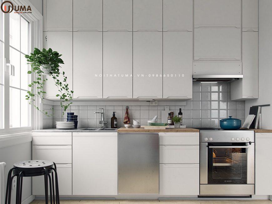 Mẫu 1 - Thiết kế nội thất phòng bếp cho gia chủ 1962