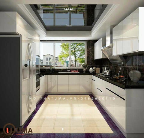 Tủ bếp Acrylic chữ U
