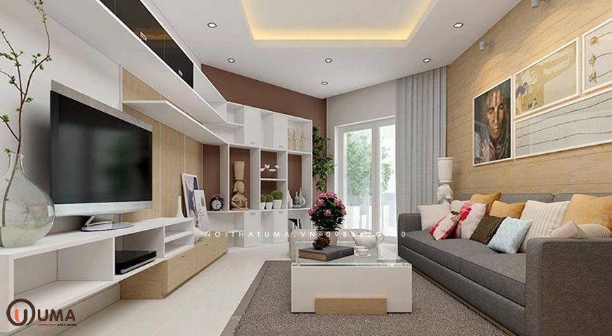 Mẫu 2 - Thiết kế phòng khách hợp mệnh cho người sinh năm 1970