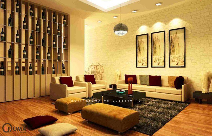 Mẫu 1 - Thiết kế phòng khách hợp mệnh cho người sinh năm 1965