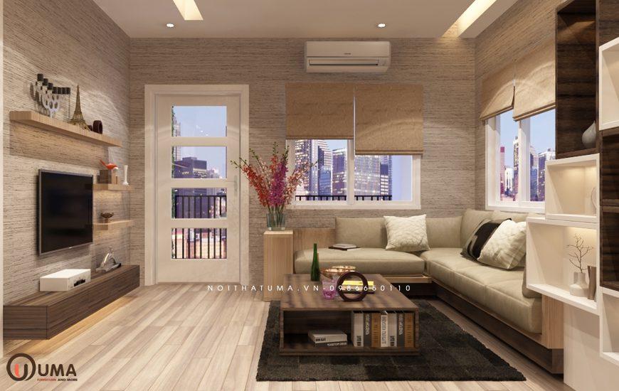 Mẫu 3 - Thiết kế phòng khách hợp mệnh cho người sinh năm 1966
