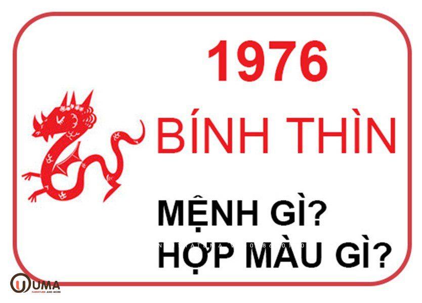 Sinh năm 1976 hợp màu gì?