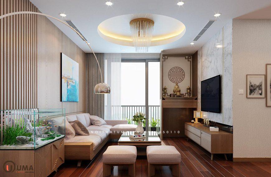 Mẫu 1 – Thiết kế phòng khách hợp mệnh cho người sinh năm 1990
