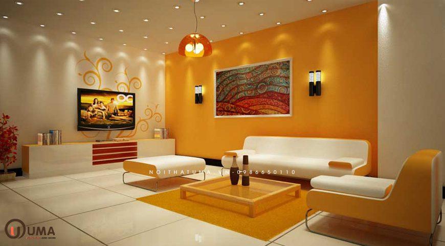 Mẫu 1 - Thiết kế phòng khách hợp mệnh cho người sinh năm 1976