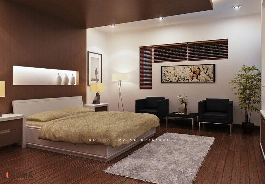 Mẫu 1 - Thiết kế phòng ngủ hợp mệnh cho người sinh năm 1976