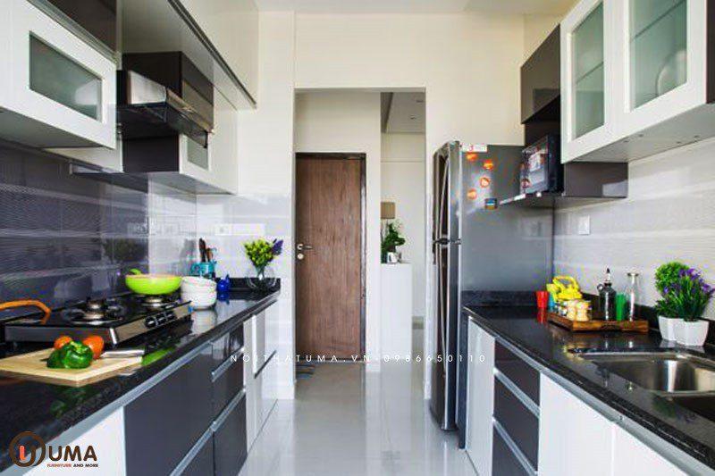 Tủ bếp Laminate song song UMA
