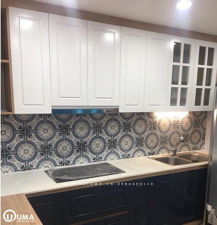 Gạch bông lát tường bếp