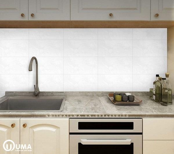 Kích thước tiêu chuẩn chọn gạch ốp tường bếp