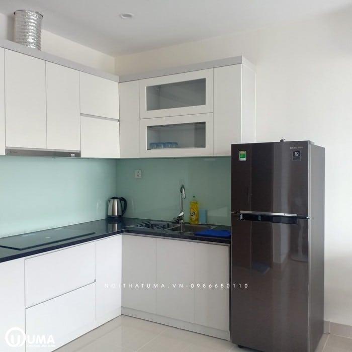 Tủ bếp nhỏ hợp mệnh Thủy