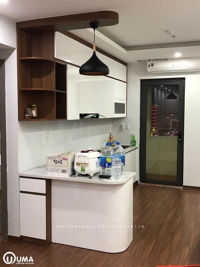 Tủ bếp thiết kế nhỏ gọn
