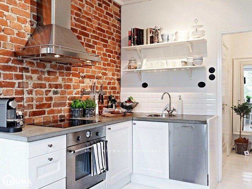 Đặc sắc, sống động nhưng lại khá tinh tế với bề mặt gạch ốp tường bếp đẹp có hoa in nổi
