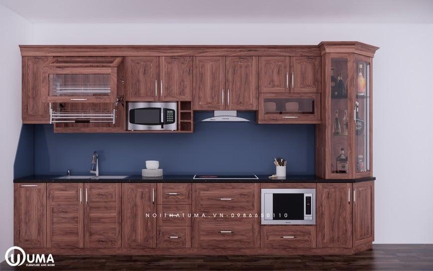 Mẫu tủ bếp chữ I sang trọng và hiện đại