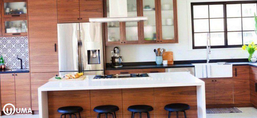 Tủ bếp gỗ óc chó UMA