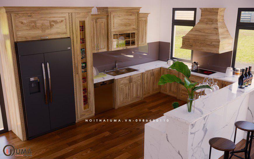 Tủ bếp Melamine - UML 10, Tủ bếp Melamine, Mẫu tủ bếp đẹp, Mẫu tủ bếp đẹp