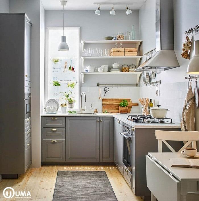 Không gian tủ bếp hiện đại, cao cấp