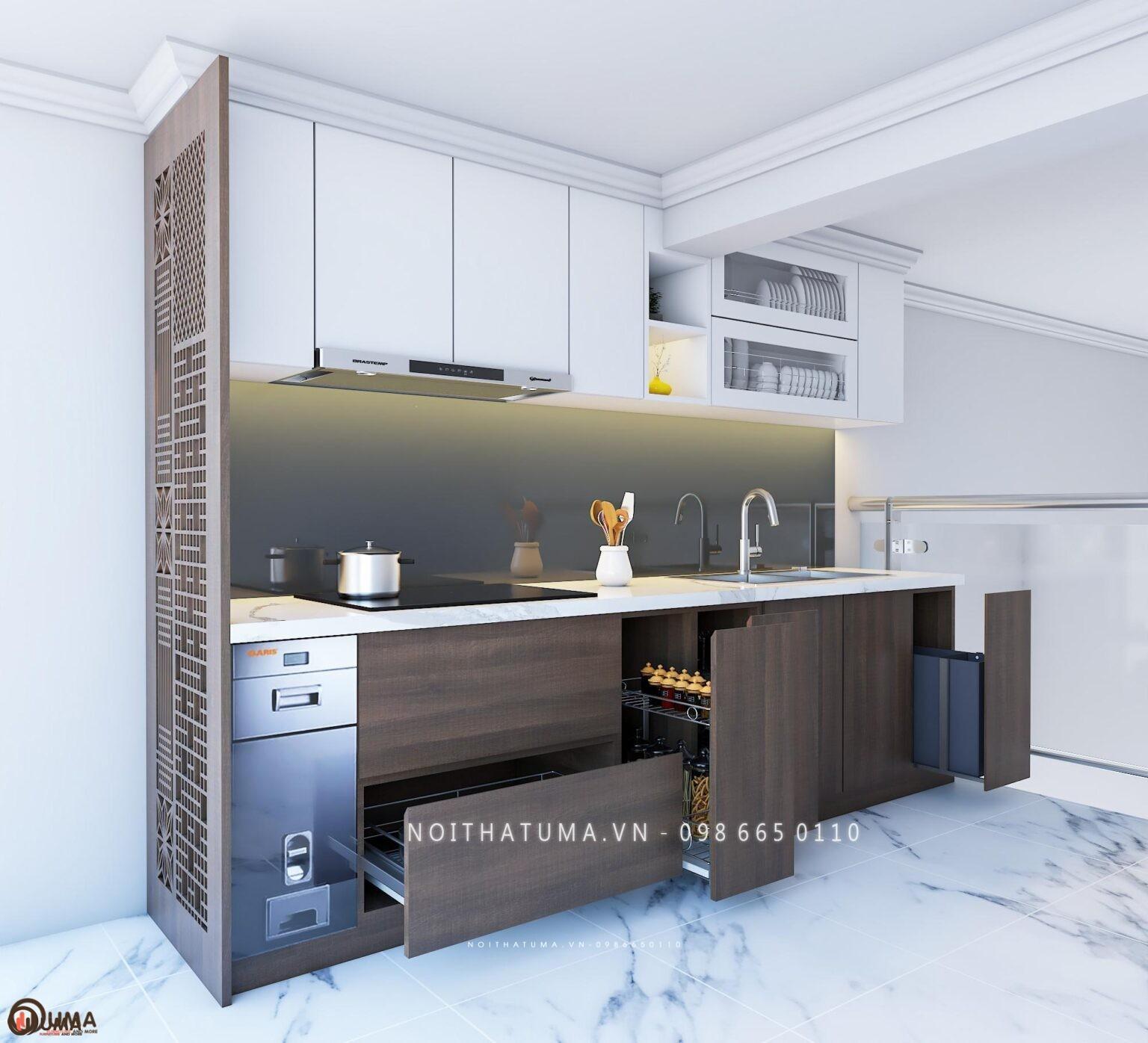 Tủ bếp  nhựa chữ I UMA