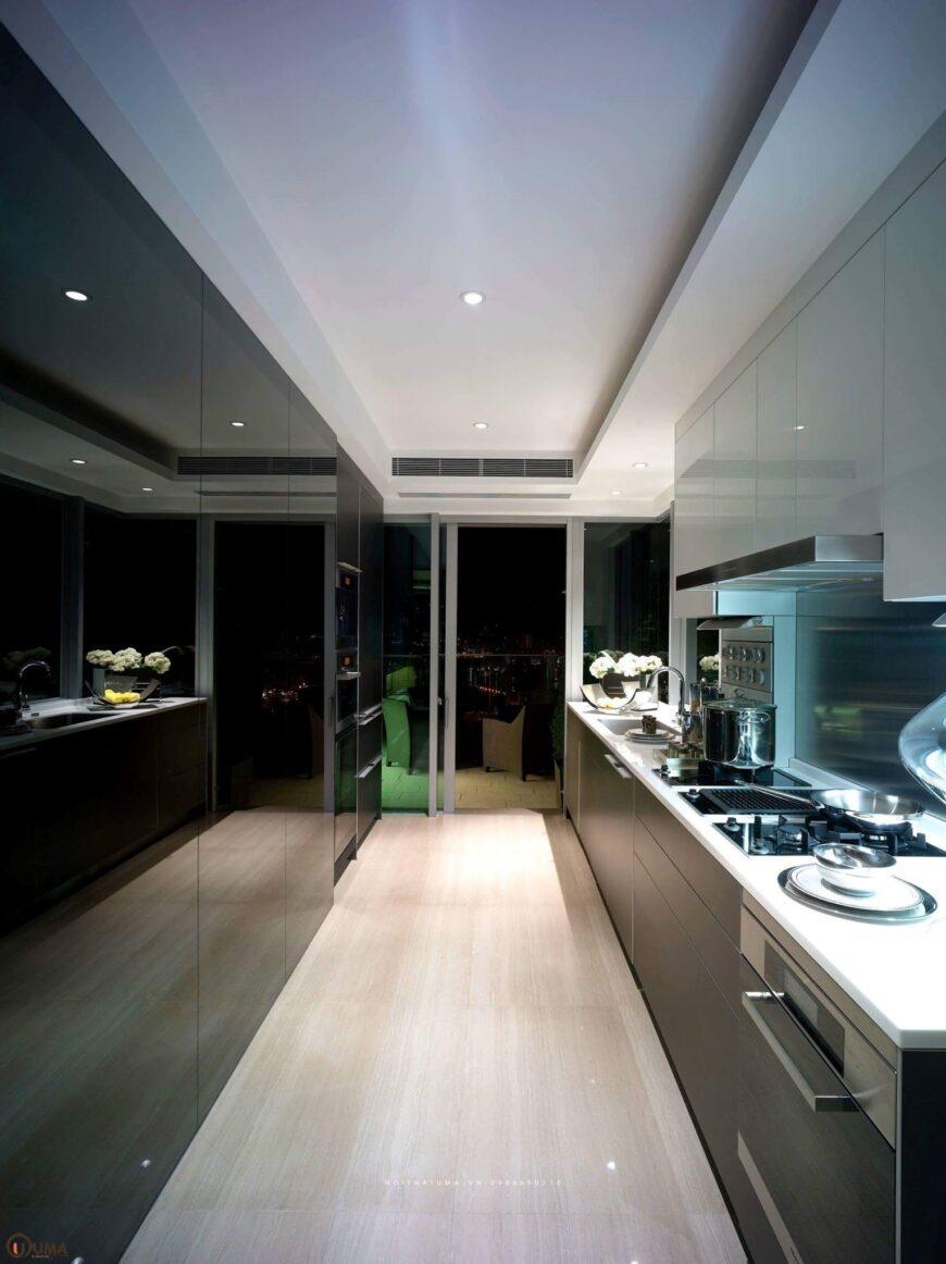 Tủ bếp nhựa song song UMA