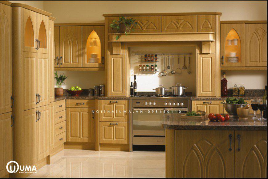 Phong cách thiết kế tủ bếp Gothic