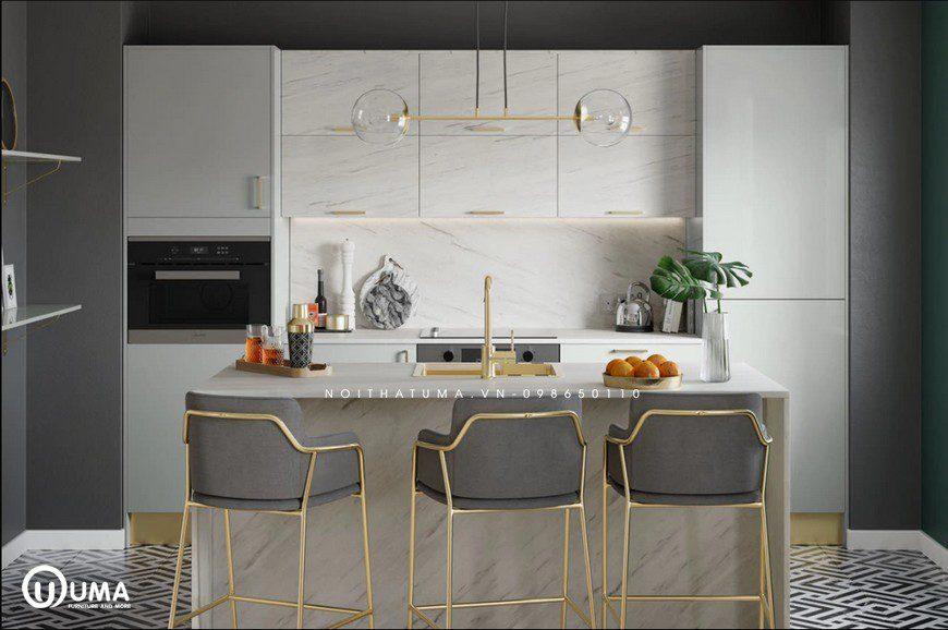 Phong cách thiết kế tủ bếp Metallic