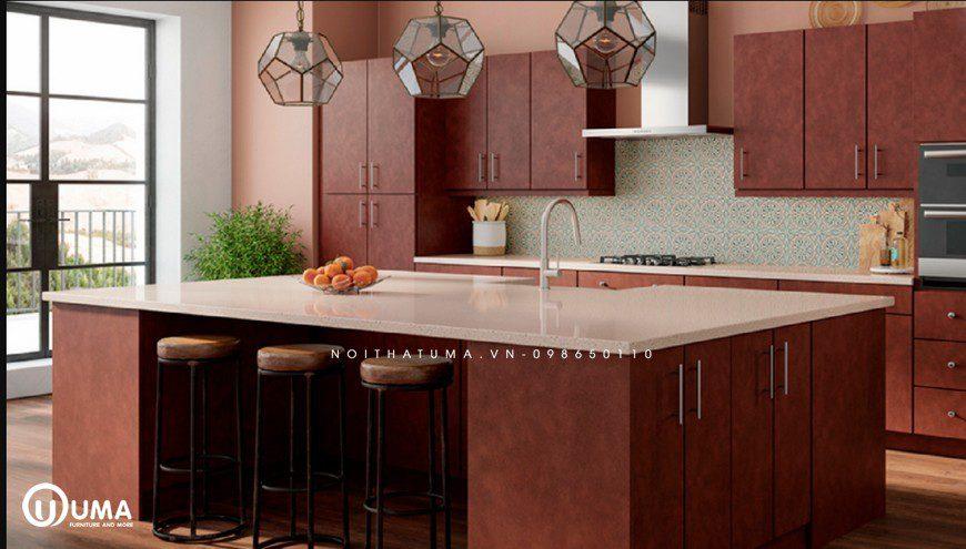 Phong cách thiết kế tủ bếp Mid-Century Modern