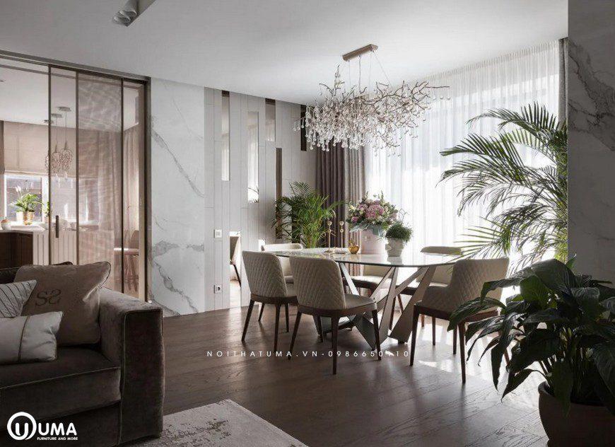 Thiết kế bàn ăn trong căn hộ cao cấp tại Quảng Ninh