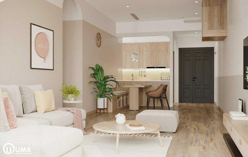 Bố trí khá hợp lý,thoải mái lựa chọn cây xanh đưa vào trong nhà khá tiện ích
