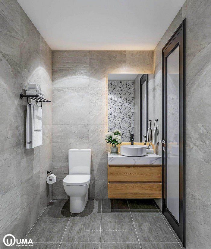 Thiết kế nội thất phòng vệ sinh nhà chị Mai tại chung cư Mipec