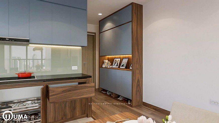 Ngay cửa bước vào là không gian phòng bếp