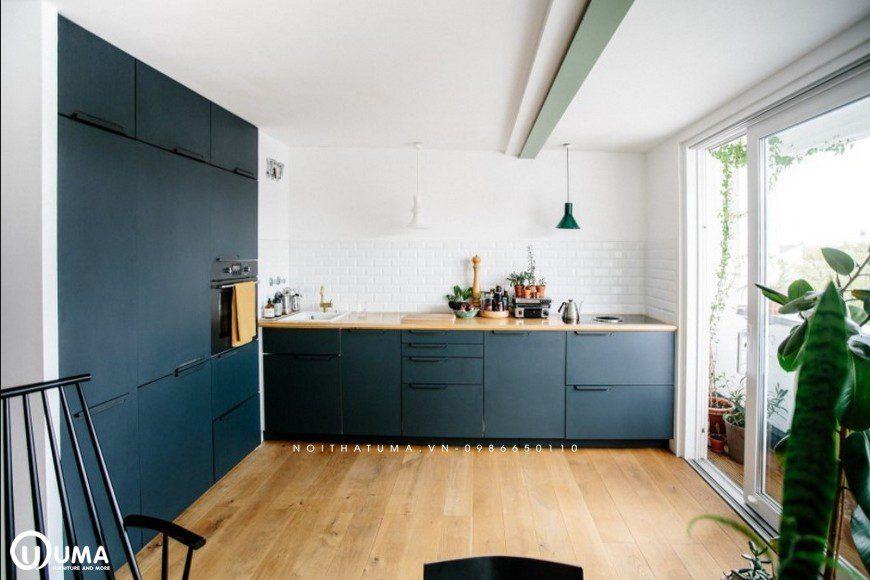 Mẫu tủ bếp gỗ Melamine