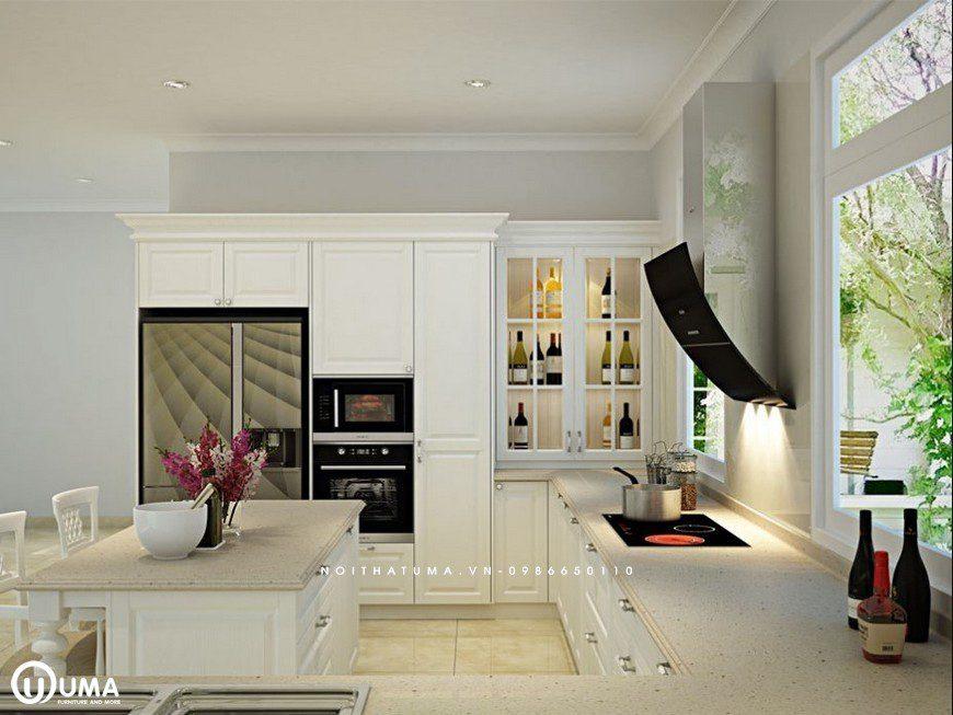 Phong cách thiết kế tủ bếp Colour Block