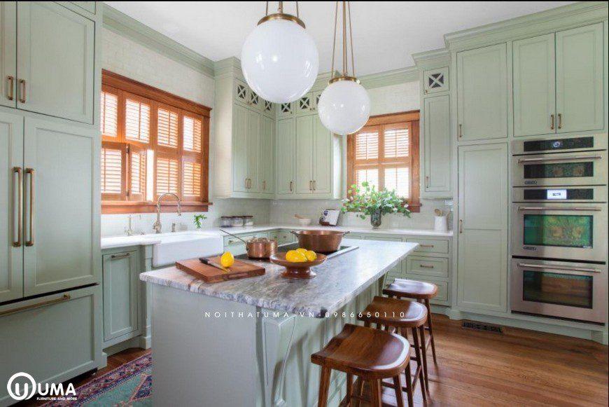Phong cách thiết kế tủ bếp Queen Anne