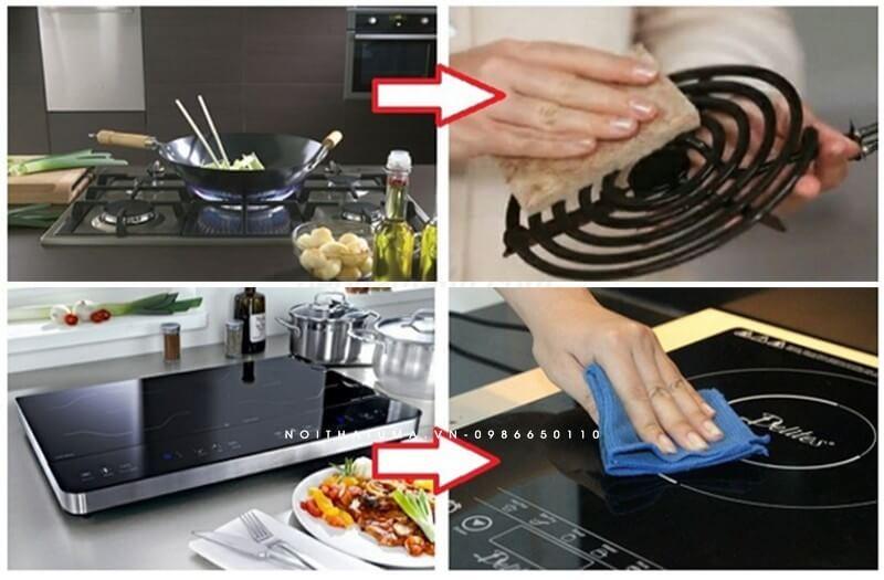 Sự khác biệt giữa bếp từ và bếp ga