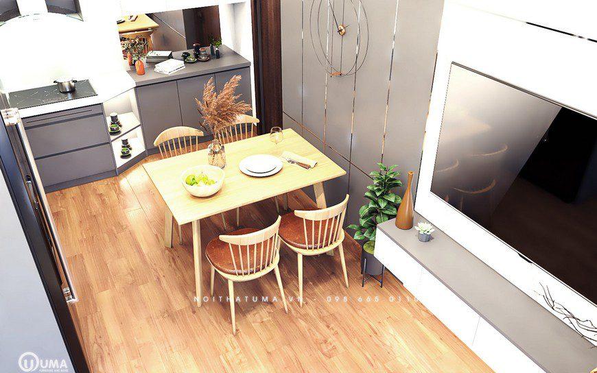 Thiết kế nội thất không gian bàn ăn nhà cô Lê