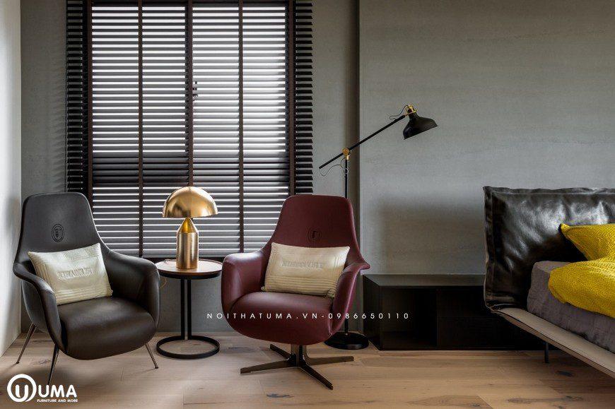 2 chiếc ghế lười chân vịt, đã mang lại sự tiện ích cho bạn mỗi khi muốn nghỉ ngơi