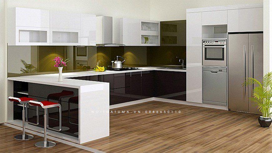 Mẫu tủ bếp nhựa Picomat chung cư tại Hai Bà Trưng