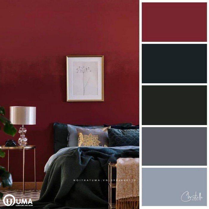 Phong cách thiết kế với tone màu cảm xúc, màu đỏ liên tưởng tới màu rực lửa, màu xanh trầm gần gũi với thiên nhiên.