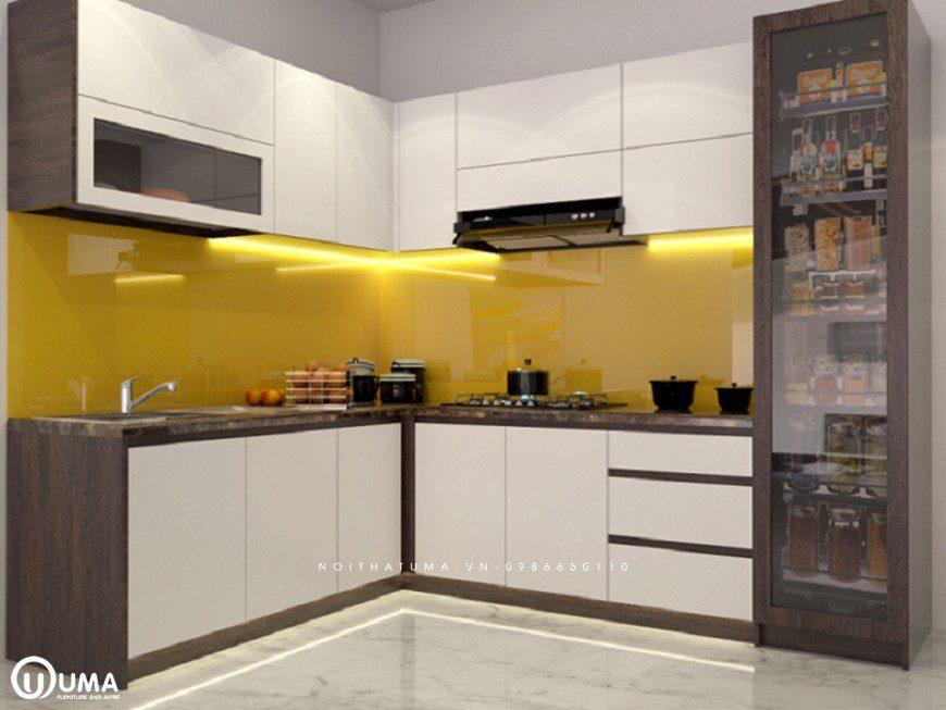 Tủ bếp bằng nhựa Picomat chữ L