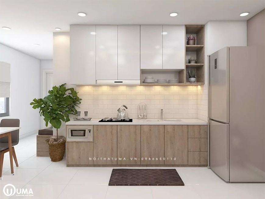 Tủ bếp bằng nhựa Picomat chung cư